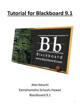 Tutorial for Blackboard 9.1 - KS Blogs