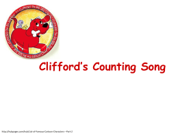 Clifford`s Counting Song