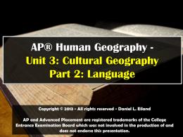 File - AP Human Geography