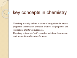 key concepts in chemistry
