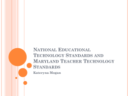 National Educational Technology Standards and