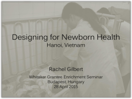 Designing for Infant Health - Whitaker International Program
