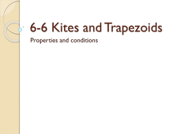 6-6 Kites and Trapezoids
