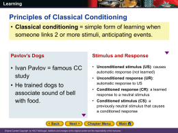 Unit 02 Classical Conditioning