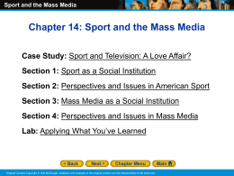 Sport and the Mass Media