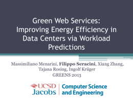 Green Web Services Improving Energy Efficiency in Data