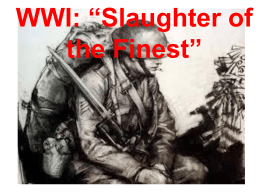SS WH U12 Lesson WWI Slaughter of the Finest