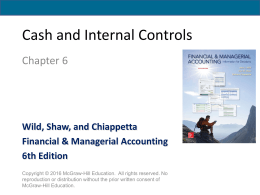 a) Purposes of internal controls