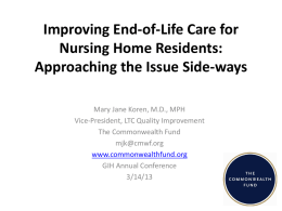 Improving End-of-Life Care for Nursing Home Residents