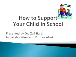 How to Support Your Child in School