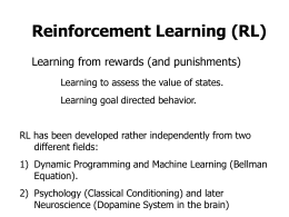 Reinforcement Learning - Third Institute of Physics