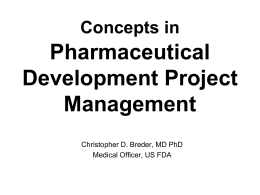 Concepts in Clinical Development Project Management