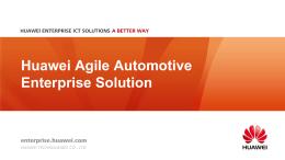 Huawei Agile Automotive Enterprise Solution