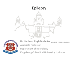 Epilepsy MCQ [PPT] - King George`s Medical University