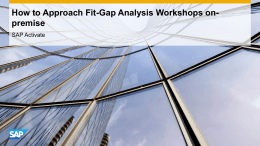 How to approach Fit/Gap Analysis