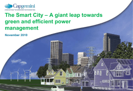 Smart City – A giant leap towards green and efficient