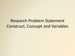 concept construct variables RM