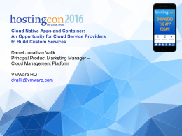 An Opportunity for Cloud Service Providers to Build Custom Services