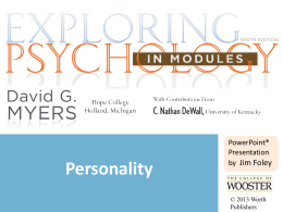 Personality - CCRI Faculty Web