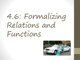 4.6: Formalizing Relations and Functions
