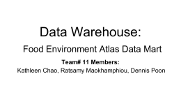 Data Warehouse: Food Environment Atlas Data Mart
