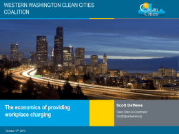 o Scott DeWees, Coordinator - Western Washington Clean Cities