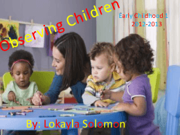 Observing Children - Family and Consumer Sciences