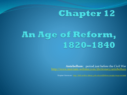 An Age of Reform, 1820-1840