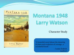 Montana 1948 Larry Watson