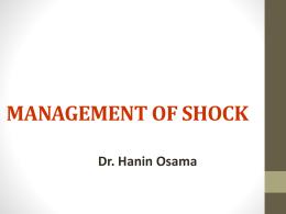 MANAGEMENT OF SHOCK - mcstmf