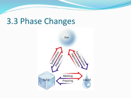 Chapter 3.3 phase changes