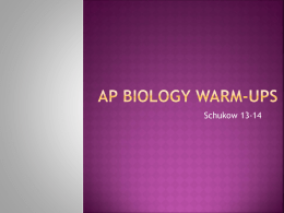 AP Biology Warm-ups