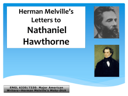 Melville`s Letters to Hawthorne