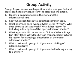 Group Activity Questions