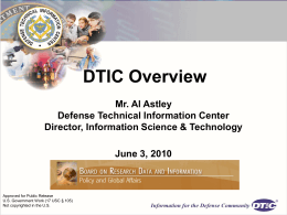 Welcome to DTIC - National Academies