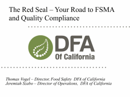 RedSeal FSMA - Specialty Crop Trade Council