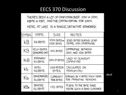 EECS 370 Discussion