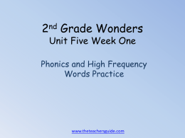 Phonics and High Frequency Words Reading Practice