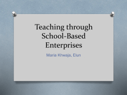 Teaching through School-Based Enterprises