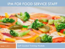 Food Service Module 1