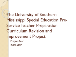 Elementary Ed Major - OSEP Project Directors` Conference