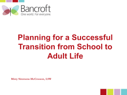 Planning for a Successful Transition from School to Adult Life