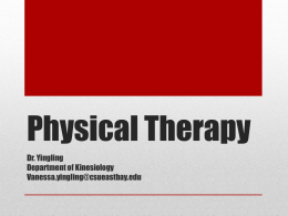 Physical Therapy - California State University, East Bay