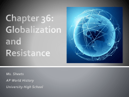 Chapter 36 - UHS AP World History Class