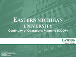 Divisional Presentation - Eastern Michigan University