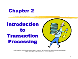 Chapter 2 - Accounting and Information Systems Department