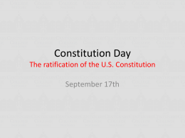 The constitution - Centenary University