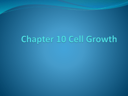 Cell Growth Chapter 10 PPT - District 196 e