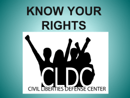 Know Your Rights for Activist PowerPoint
