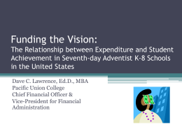 Funding the Vision - La Sierra University